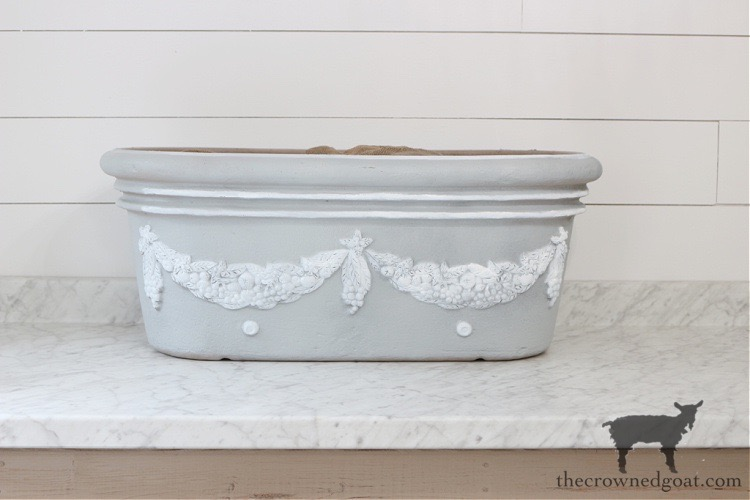 French-Country-Painted-Planter-The-Crowned-Goat-10 French Country Painted Planter Crafts Decorating DIY Painted Furniture