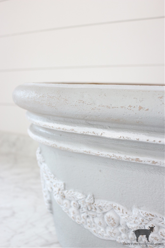 French-Country-Painted-Planter-The-Crowned-Goat-14 French Country Painted Planter Crafts Decorating DIY Painted Furniture