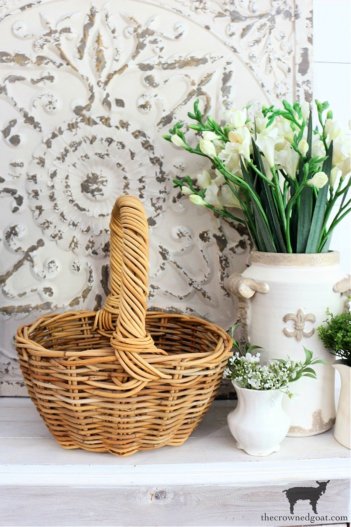 Five-Ways-to-Style-a-Spring-Basket-The-Crowned-Goat-5 5 Ways to Style a Spring Basket Holidays Spring