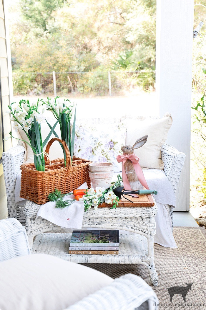 Spring-Flowers-Porch-Tour-Spring-Vignette-The-Crowned-Goat-2 Spring Flowers Porch Tour Holidays Spring