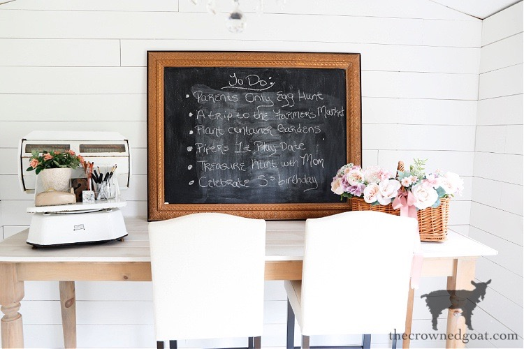 Chalkboard-and-Work-Island-at-The-Crowned-Goat-Cottage Spring at The Crowned Goat Cottage Uncategorized