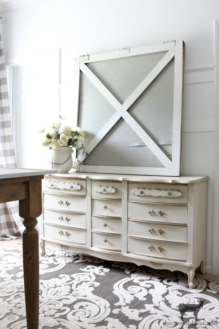 Miss-Mustard-Seed-Milk-Paint-Marzipan-Dresser-Makeover-The-Crowned-Goat-10 ORC: Guest Bedroom Makeover Plans Decorating DIY One_Room_Challenge