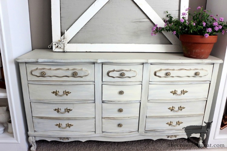 French-Country-Dresser-Makeover-The-Crowned-Goat-3 French Country Dresser Makeover DIY One_Room_Challenge Painted Furniture