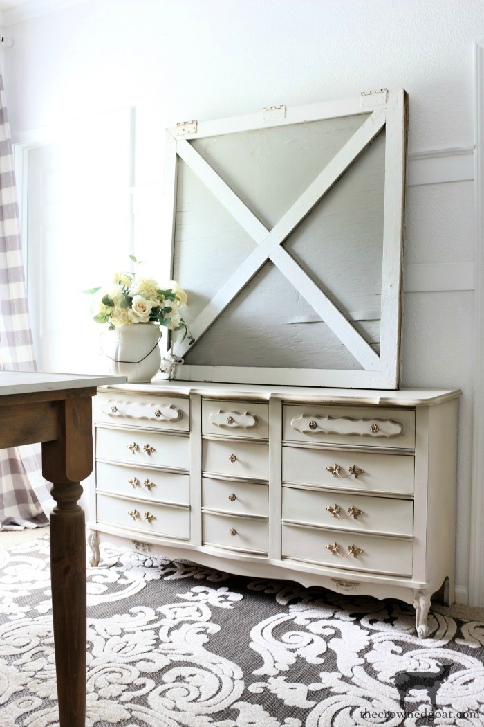 French-Country-Dresser-Makeover-The-Crowned-Goat-4 French Country Dresser Makeover DIY One_Room_Challenge Painted Furniture