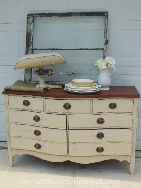 Old Ochre Dresser Makeover