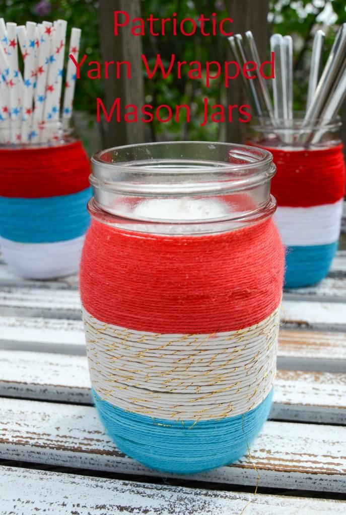 Albiongould -Patriotic-Yarn-Wrapped-Mason-Jars-