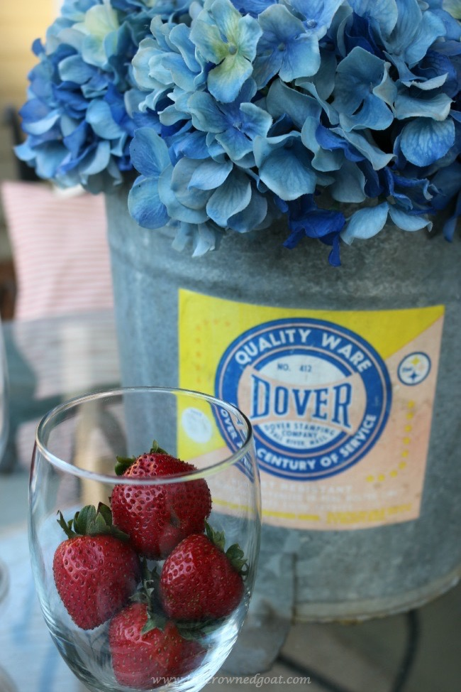 Repurpose an old mop bucket to hold summer flowers - The Crowned Goat - 060215-6