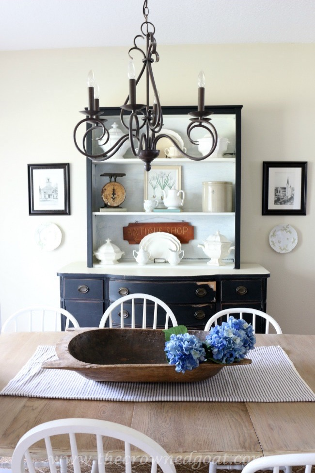 072315-10 - Using Vintage Finds to Style a China Hutch - The Crowned Goat -