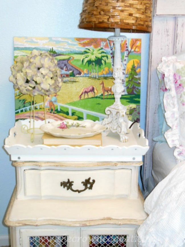 Decorating with Vintage Paint by Numbers - The Crowned Goat - 071515-6