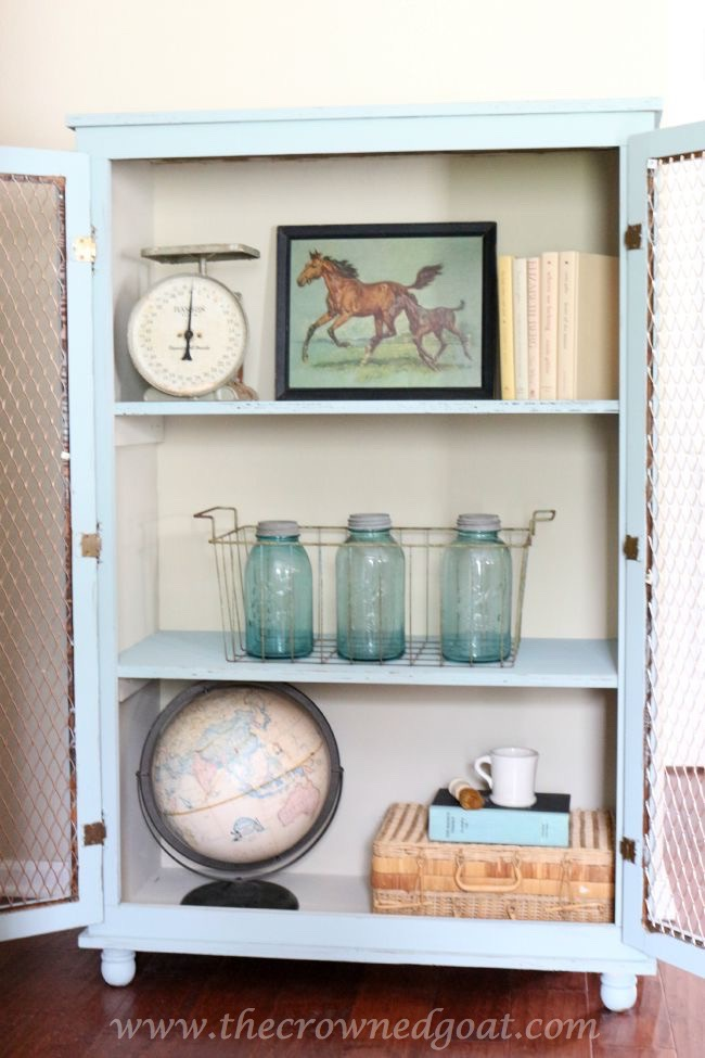Duck Egg Painted Dresser - The Crowned Goat - 072815-11