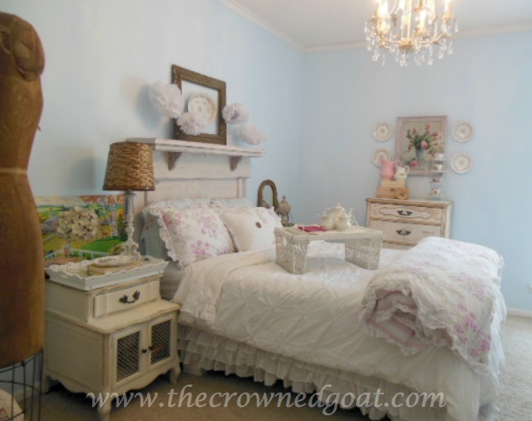 Shabby Chic Inspired Bedroom Makeover - The Crowned Goat - 071515-1