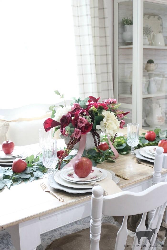 Elegant Autumn Apples Inspired Tablescape