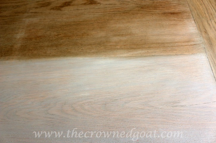 Using Paint to Create a Restoration Hardware Inspired Tabletop - The Crowned Goat