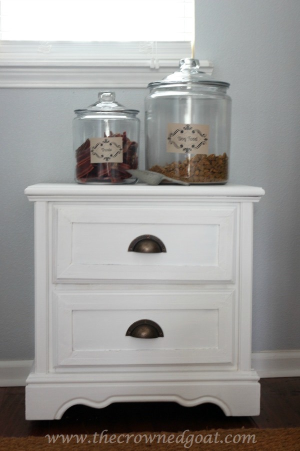 Creating a Dog Feeding Station From a Nightstand
