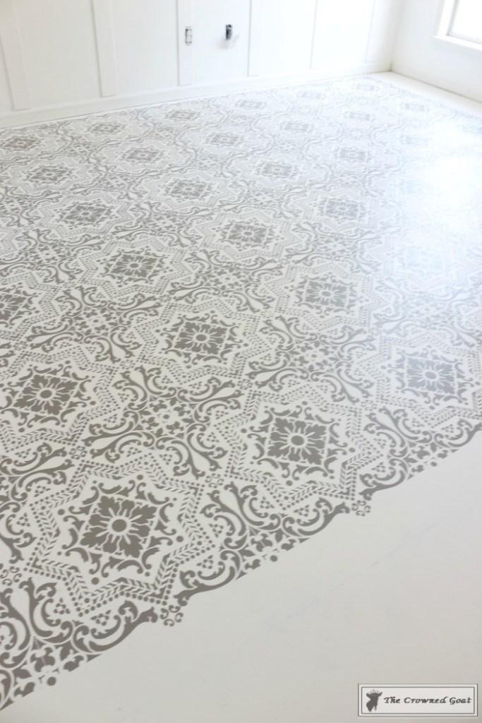 Easily Stencil a Concrete Floor-11