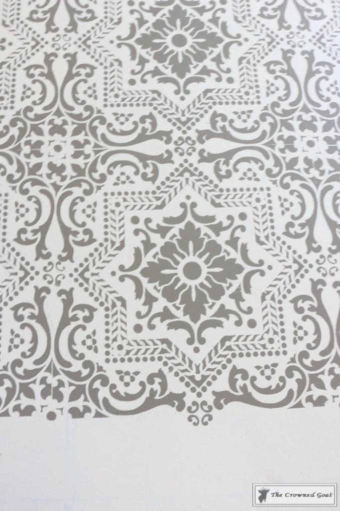 Easily Stencil a Concrete Floor-12
