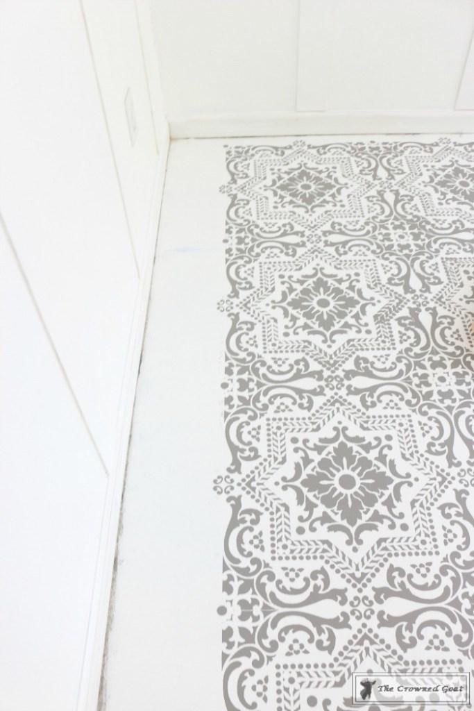 Easily Stencil a Concrete Floor-13