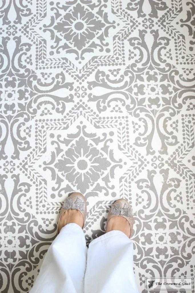 Easily Stencil a Concrete Floor-4