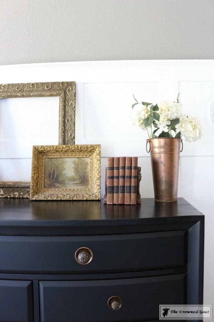 Lamp Black Painted Dresser-10