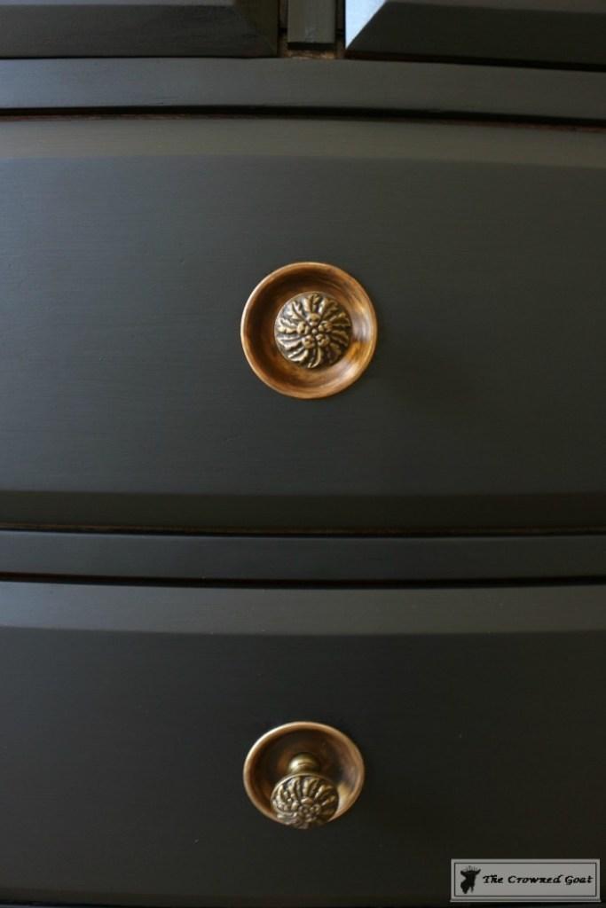 Lamp Black Painted Dresser-13