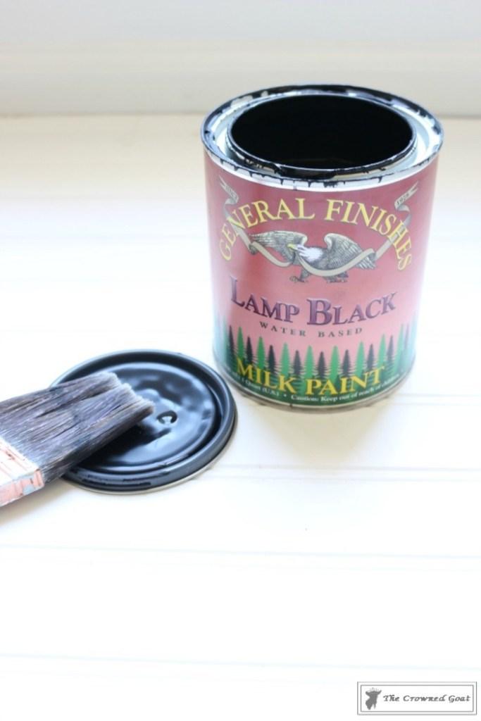 Lamp Black Painted Dresser-5