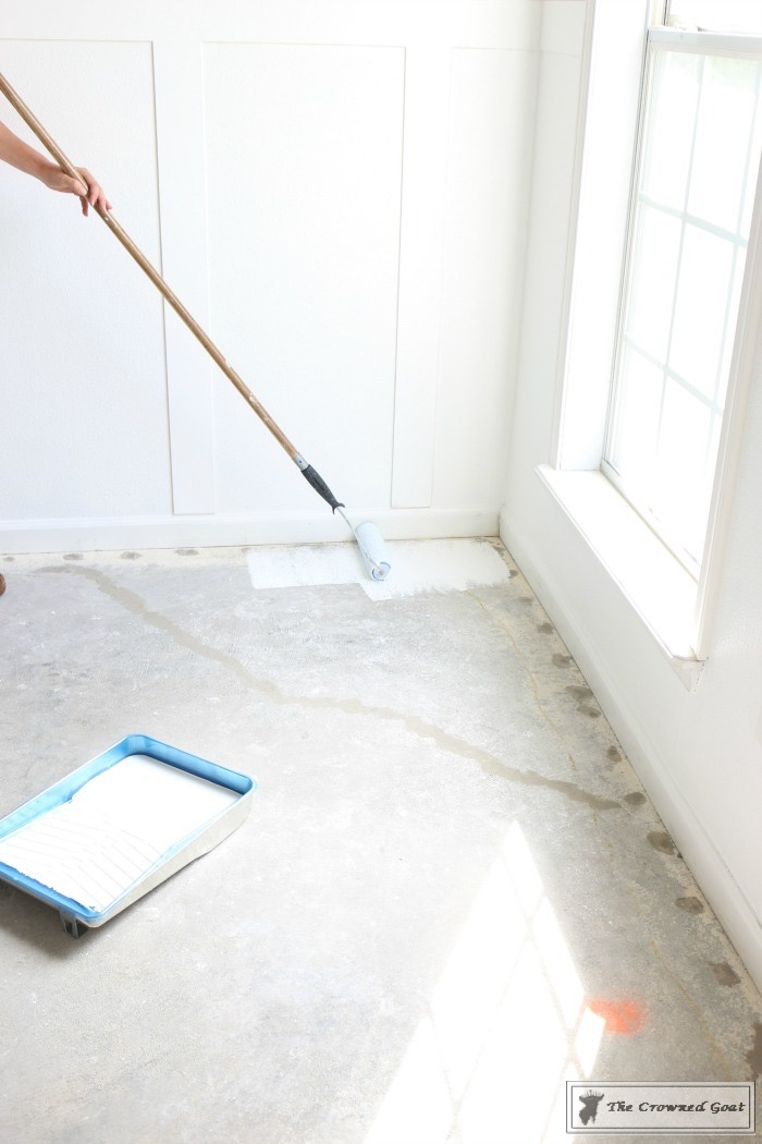 Prepping a Concrete Floor for Stenciling