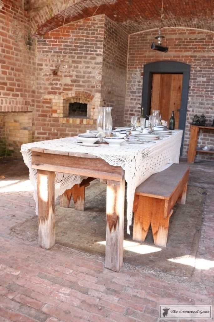 Officers Dining Table at Fort Clinch