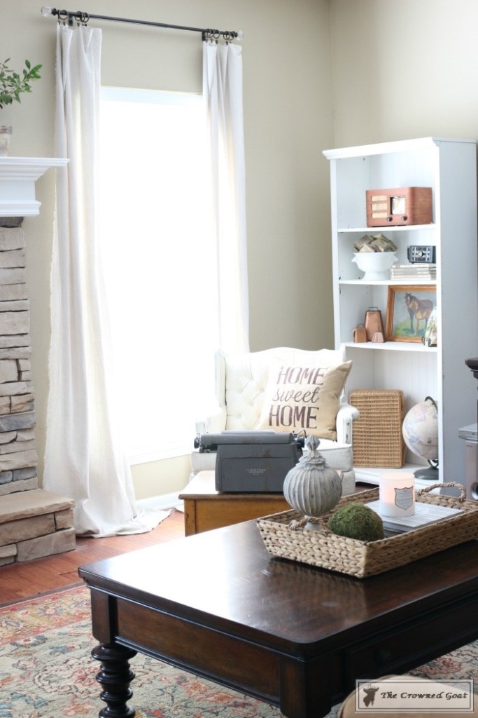 Completing the final details of a room makeover-12