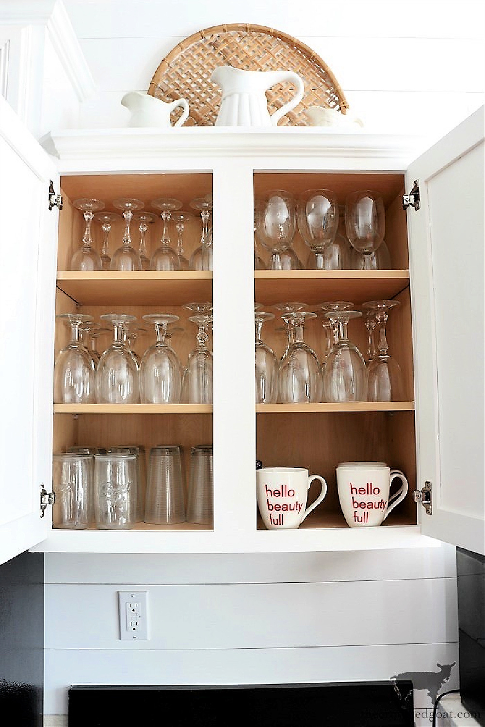 11 Ways to Clean, Maintain, and Organize Your Kitchen-Kitchen Cabinet Organization-The Crowned Goat