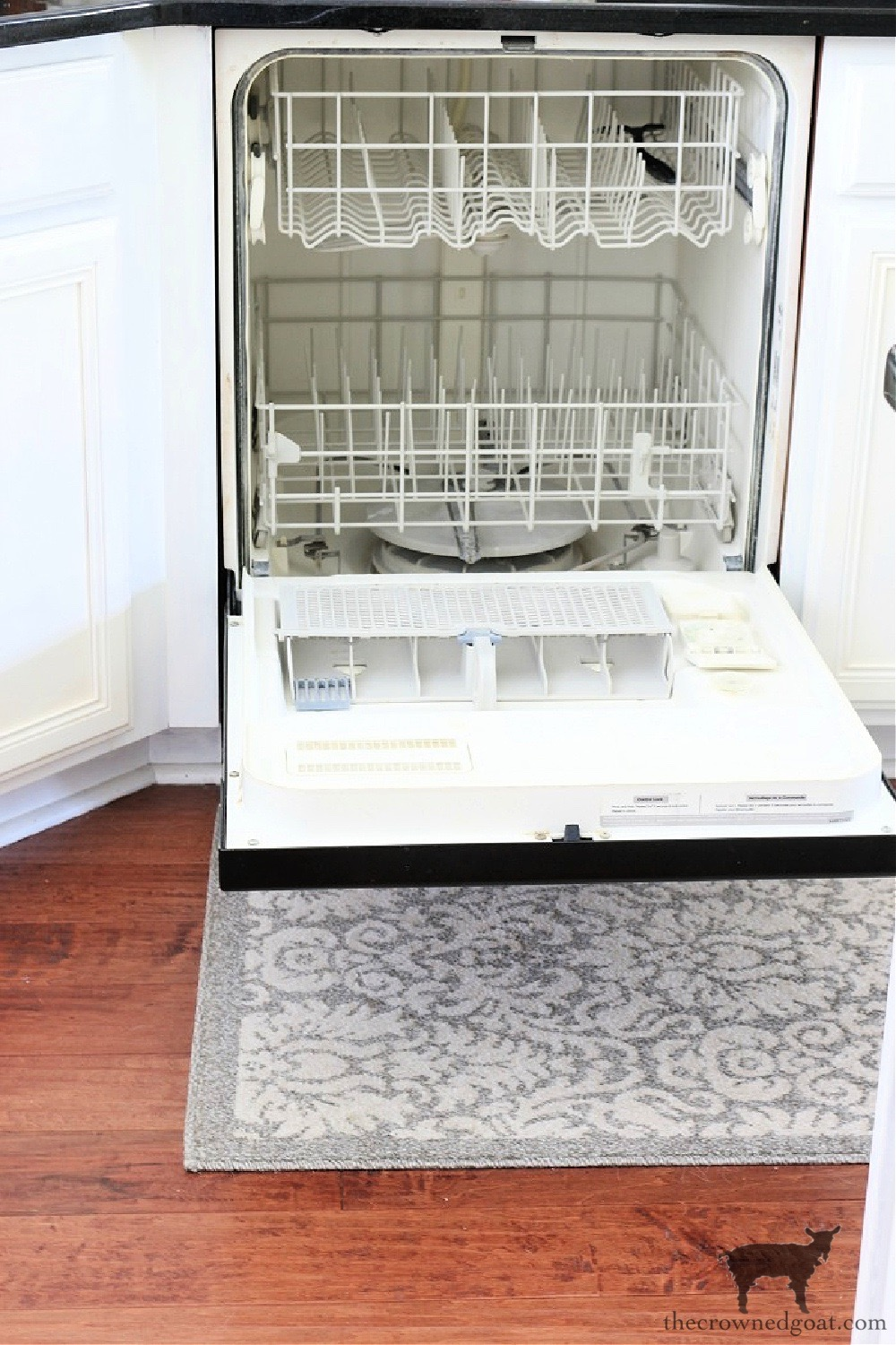 Simple Ways to Clean Organize and Maintain Your Kitchen-Morning Dishwasher Routine-The Crowned-Goat.jpg