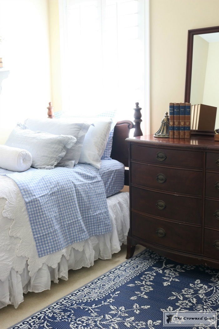 Blue and White Bedroom Makeover at Bliss Barracks