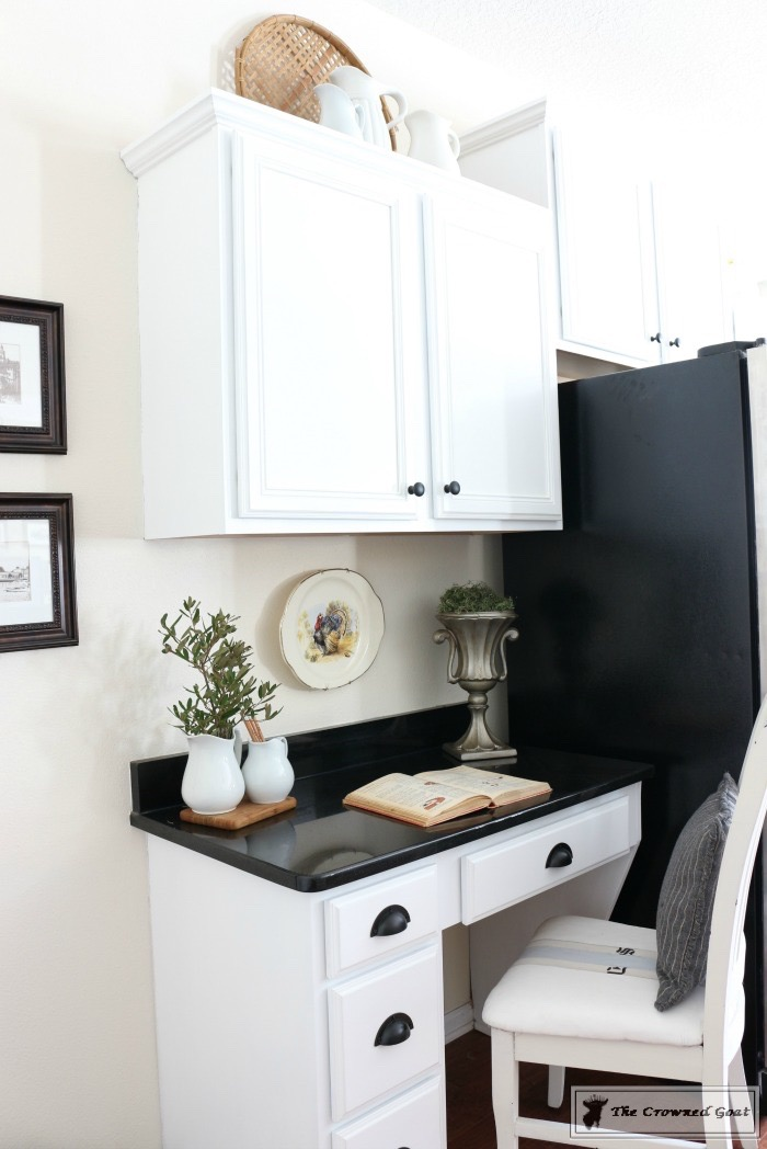 Decorating the Kitchen Cabinets-The Crowned Goat-12