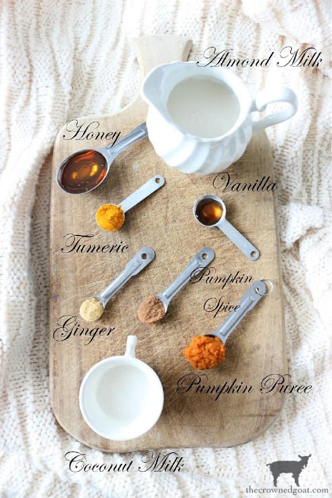 Pumpkin Spice Golden Milk Latte Ingredients-The Crowned Goat