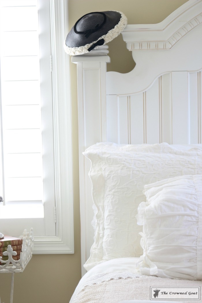 Vintage White Bedroom Makeover at Bliss Barracks