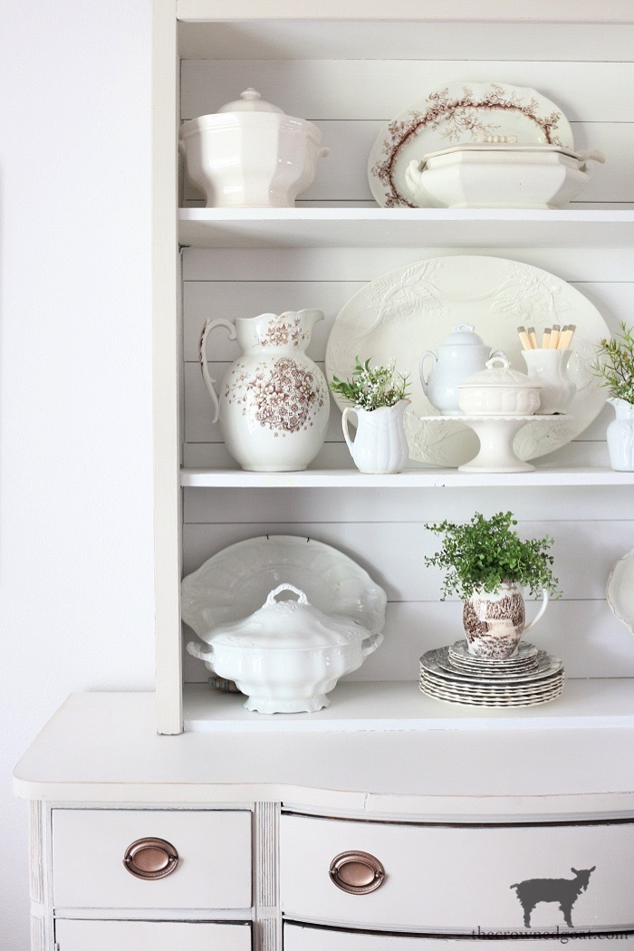 8 Tips for Styling a Dining Room Hutch - The Crowned Goat