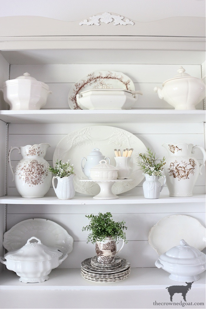 Easily Decorate a Dining Room Hutch with These 8 Tips  - The Crowned Goat