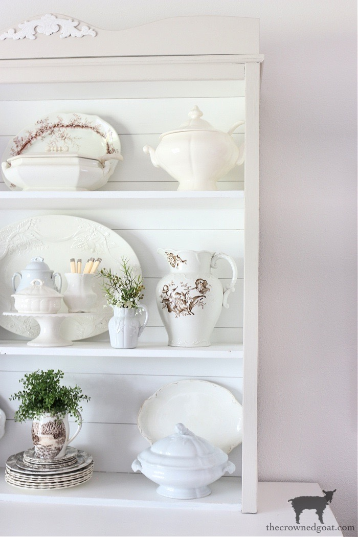 How to Easily Style a Dining Room Hutch - The Crowned Goat