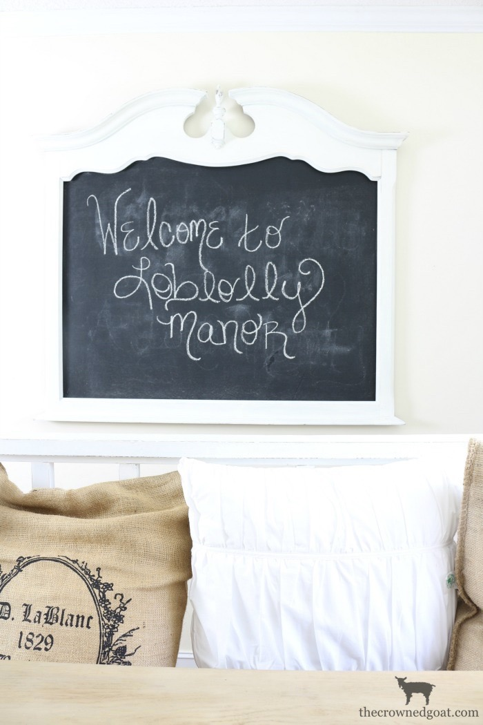 Creating a Chalkboard from a Mirror