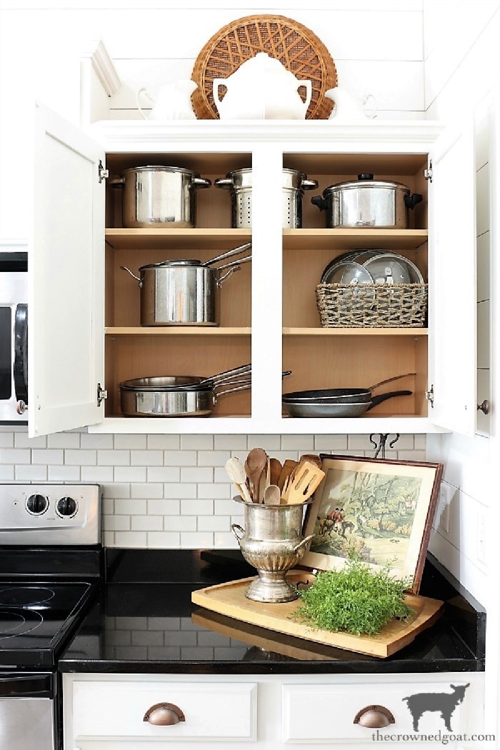 5 Key Spaces to Organize Before School Starts-Kitchen Cabinets-The Crowned Goat