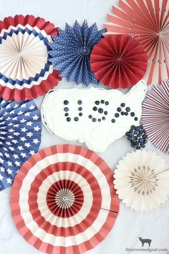 A Simple Patriotic USA Cake
