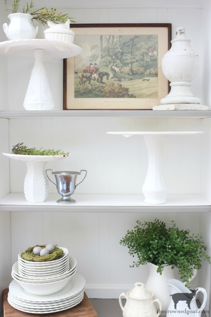 French Linen Hutch Makeover