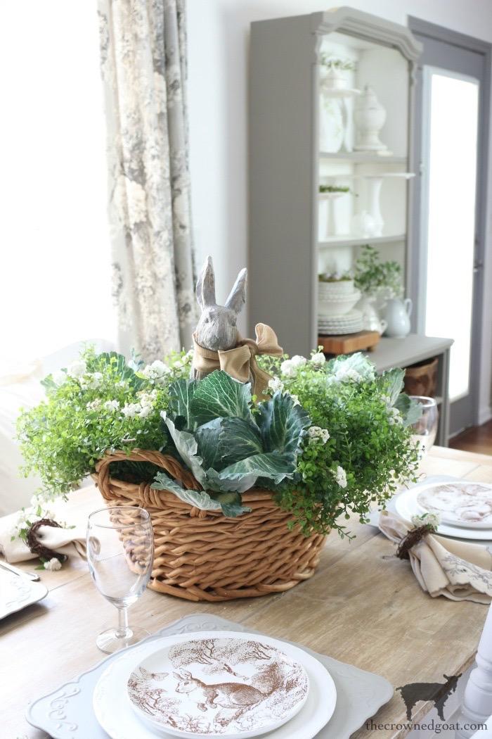 Spring Bunny Tablescape