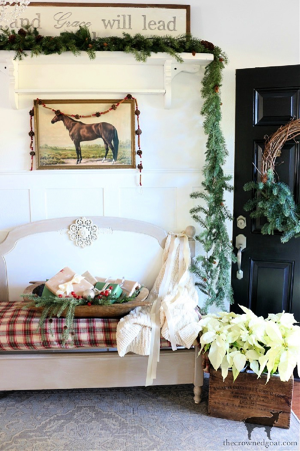 Simple Ways to Prepare Now For the Holiday Season-Christmas Entry Ideas-The Crowned Goat