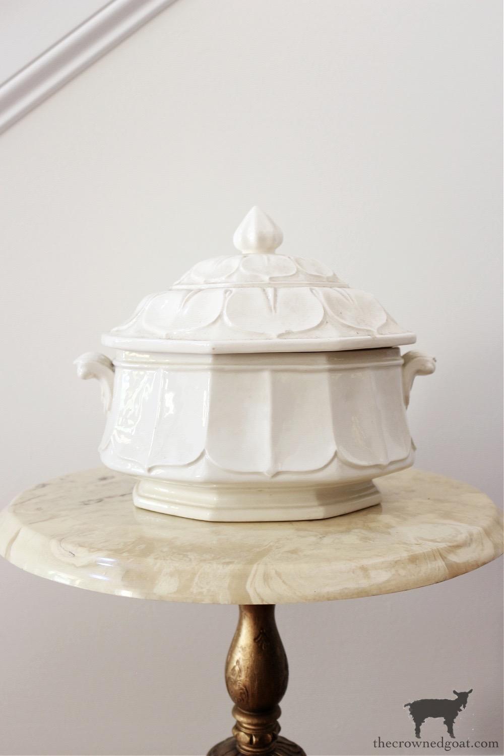 Ironstone Tureen-The Crowned Goat