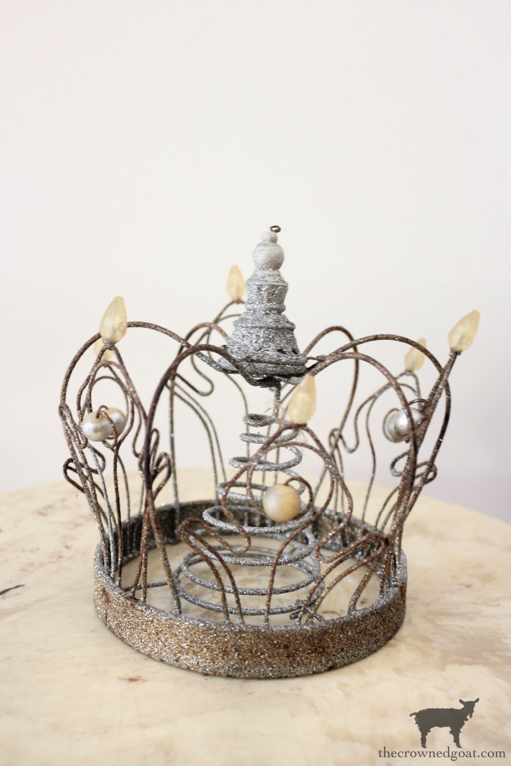 Glitter Crown for a Christmas Tree Topper-The Crowned Goat