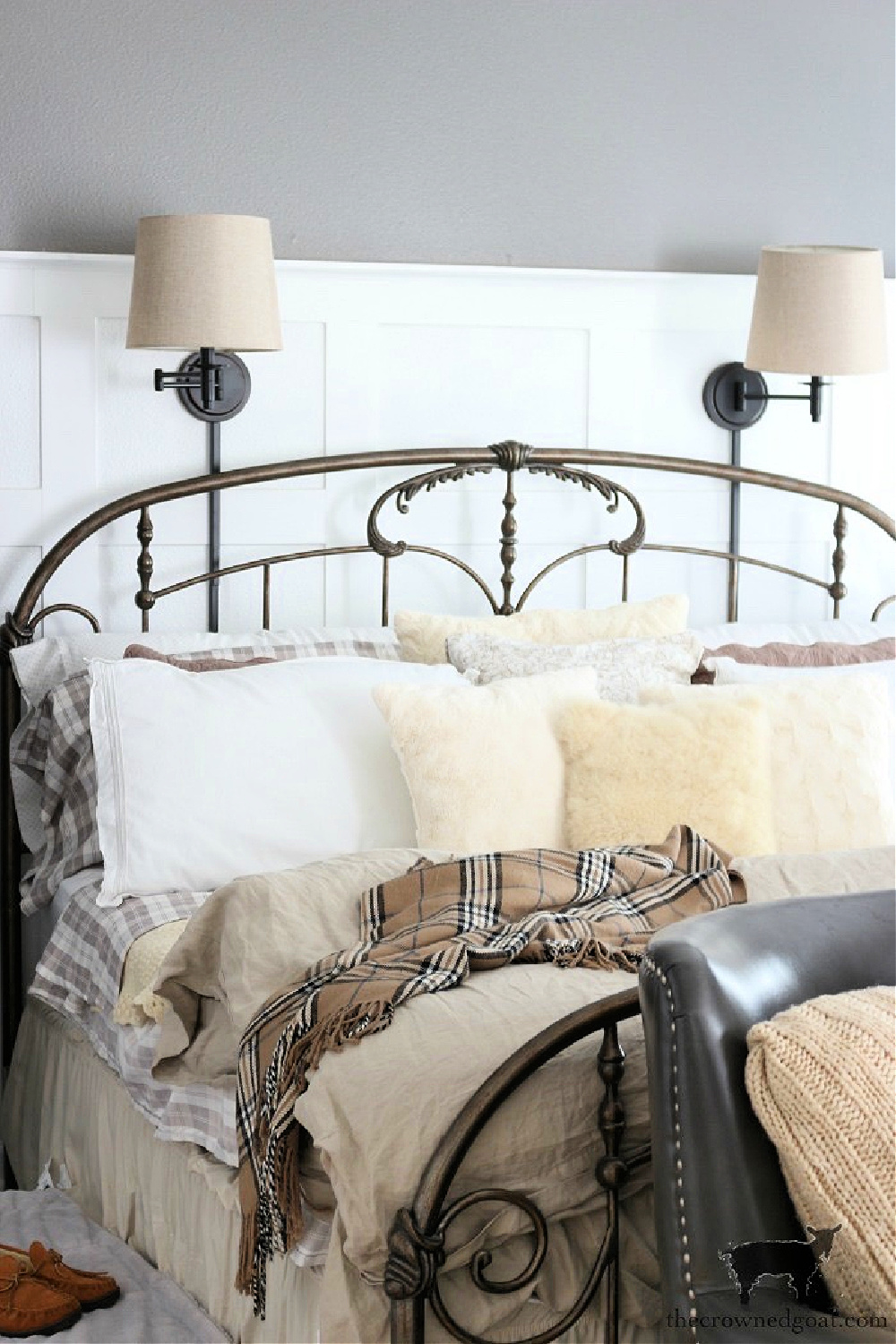 Simple Ways to Prepare Now for the Holidays-Christmas Bedroom Inspiration-The Crowned Goat