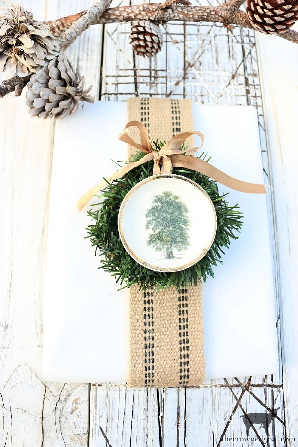Nature Inspired Gift Wrap Ideas-The Crowned Goat