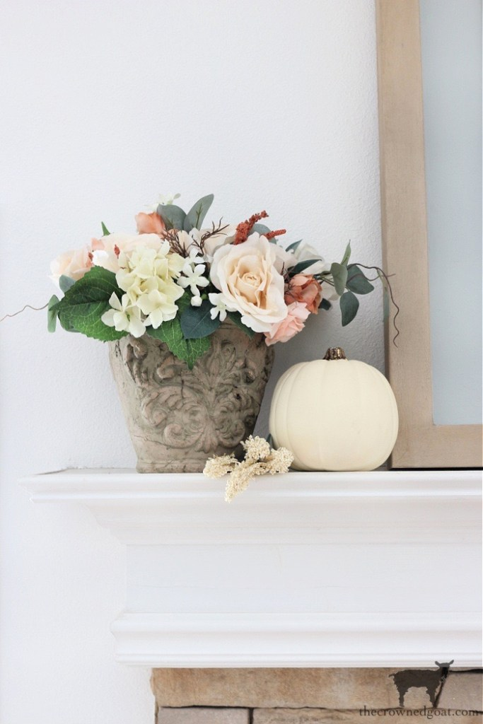 Fall Flowers for a Festive Fall Mantel-The Crowned Goat