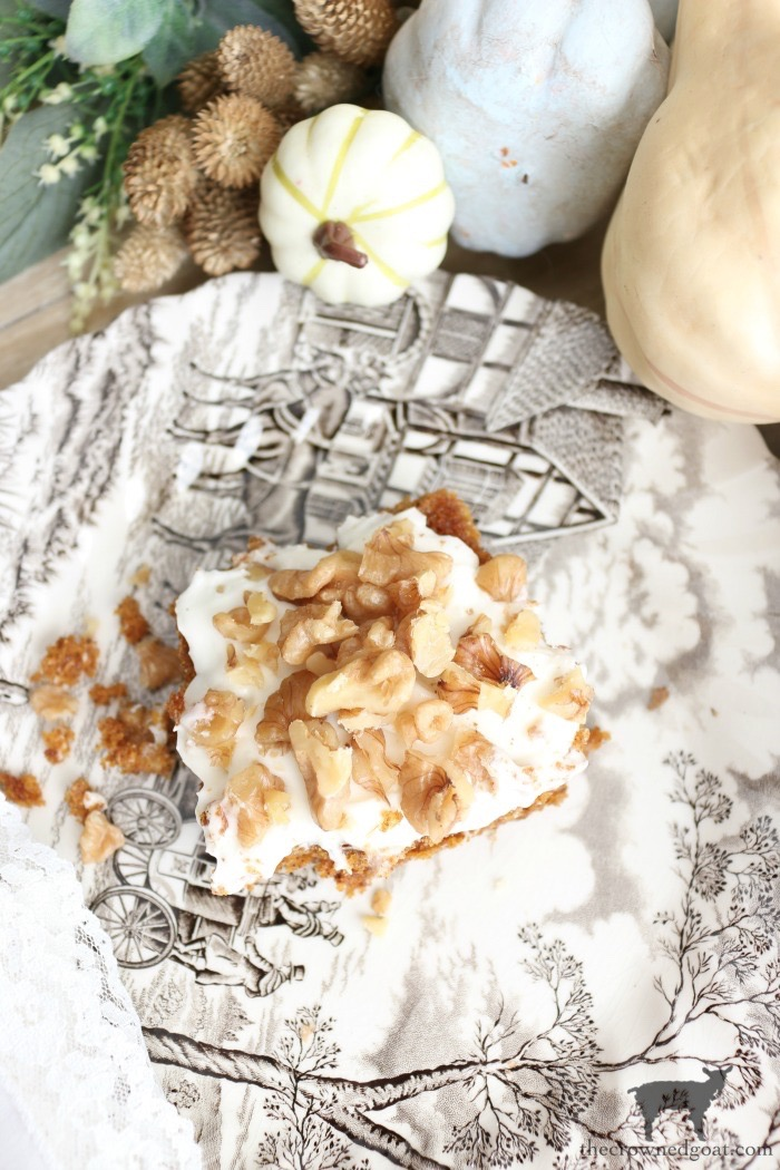 Pumpkin Spice Bars with Cream Cheese Icing