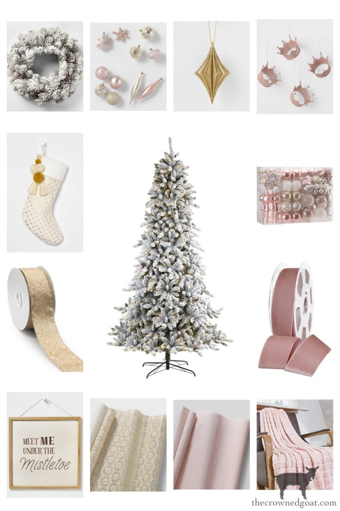 Blush and Gold Themed Tree - The Crowned Goat